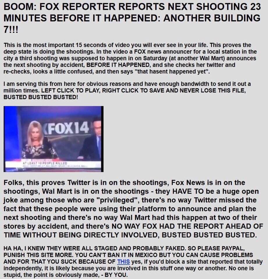 False Flag Shooting